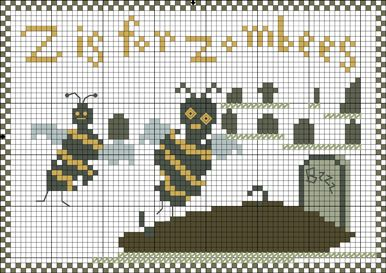 Freebie: Z is for Zombees