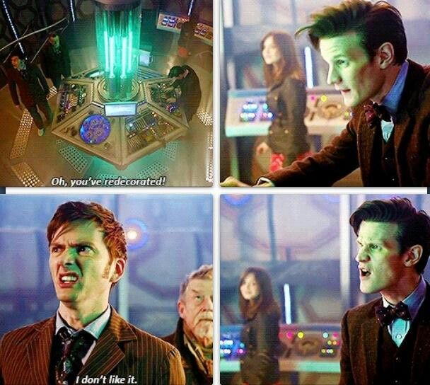 """Hes so offended by his past self its adorable<<< Clara in the back is just like """"this should be fun"""" xD"""