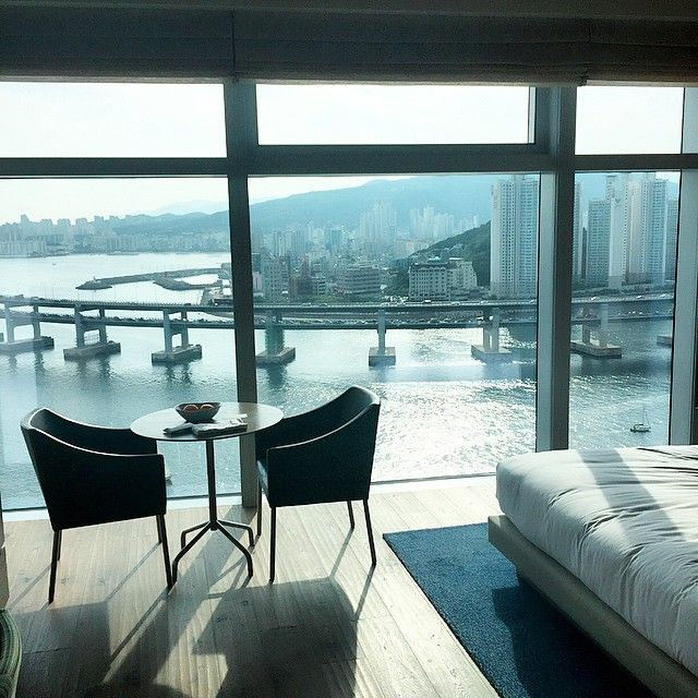 An ocean view at Park Hyatt Busan. Photo courtesty of @fofo_bichonfrise.