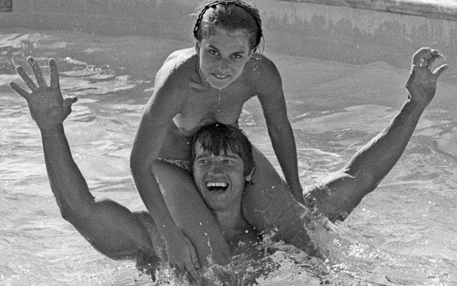 Arnold Schwarzenegger and 15 years old Nastassja Kinski, 1976