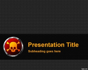 Skull PowerPoint Template is a free PPT template for PowerPoint presentations that you can use in danger presentation topics including presentation software for topics about how nuclear power plants work, danger situations, pirates presentations, top ten dangerous jobs, overseas contractor jobs or any other presentation where a skull image or illustration fits ok