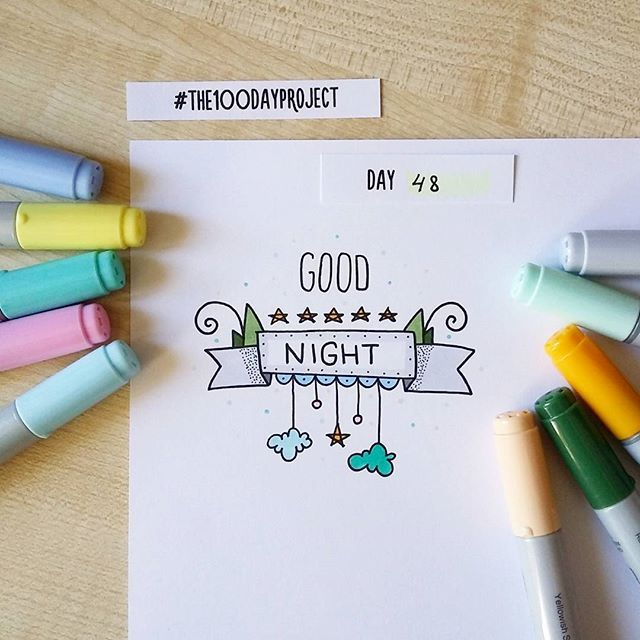 #100daysofdooodles2 #100dayproject #100daysproject #doodle #goodnight #markers #drawing #рисунок #маркеры #спокойнойночи