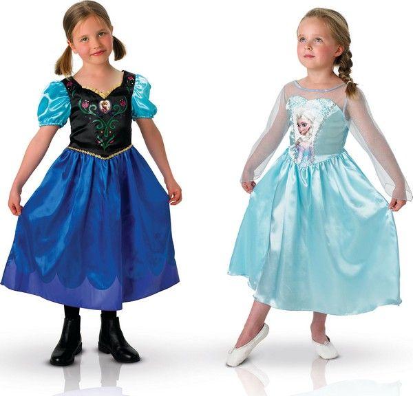Déguisement duo Anna et Elsa La Reine des Neiges™ fille : Ces déguisements d'Anna et Elsa Frozen sont sous licence officielle La reine des neiges™. Ils se composent de deux robes (chaussures non incluses). La robe satinée d'Anna...