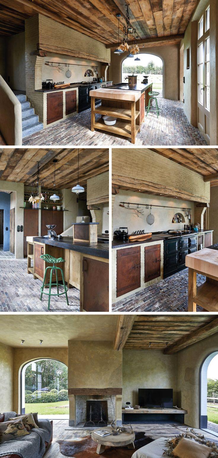 Een landelijke woning vol authentieke elementen, met