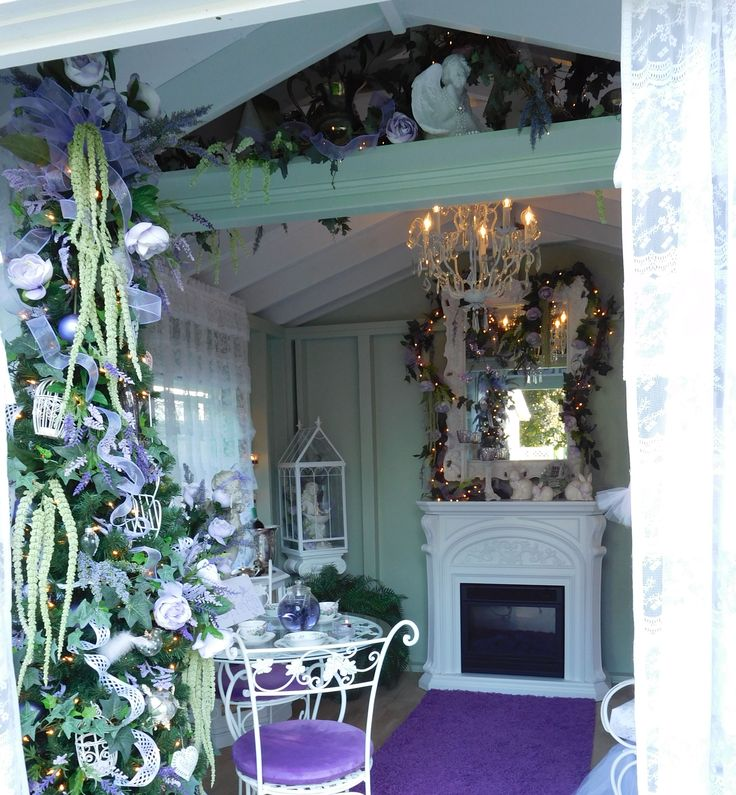 Inside A Romantic Purple Shabby Chic She Shed She Sheds
