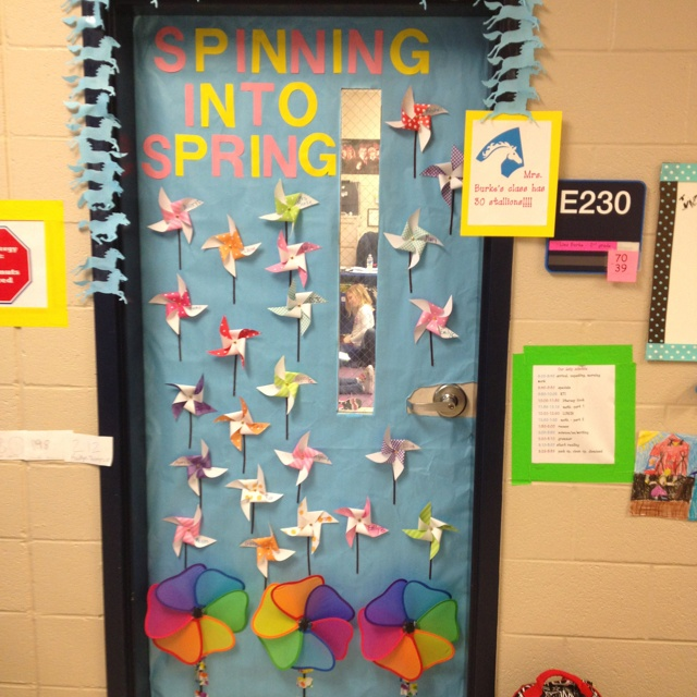 Classroom Decorations For Spring ~ Spring classroom door decor crafts pinterest