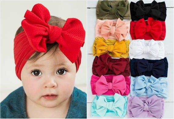 nylon baby headband baby shower headband One size fits all nylon headbands Nylon Baby Headband Sets newborn headbands