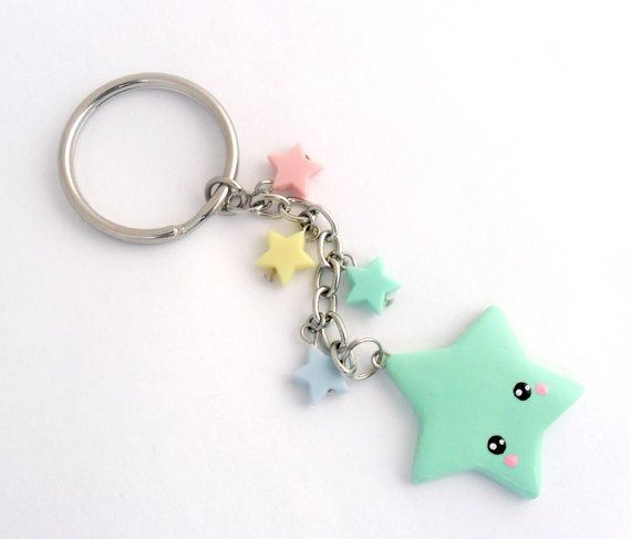 Kawaii Shooting Star Keychain Lolita Fairy Kei by aLilBitOfCute, $8.00