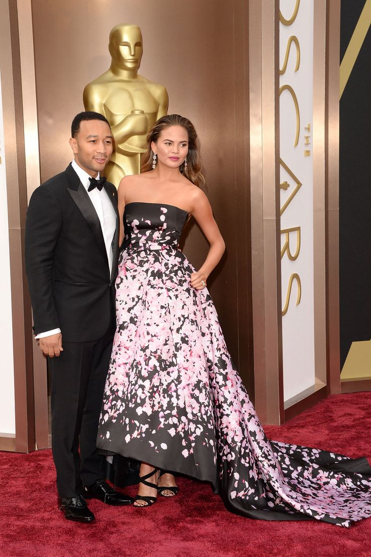 John Legend and Christine Teigen - Oscars 2014