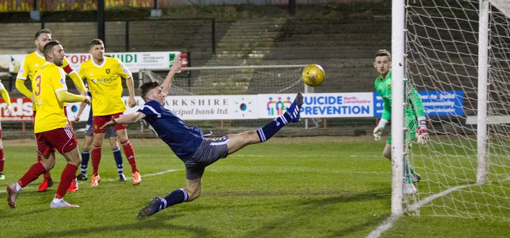 Queen's Park's Cammy Foy in action during the Ladbrokes League One game between Albion Rovers and Queen's Park.