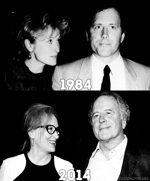 30 years of looking at him lovingly------Meryl Streep and Don Gummer