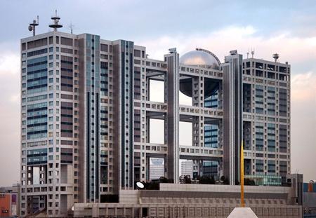 Fuji Television Headquarters, Odaiba, Tokyo, Kenzo Tange architecte