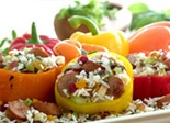 Apple Chicken Sausage and Rice Stuffed Peppers-Better-for-You Recipes