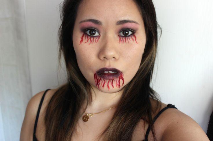 simple zombie halloween make up