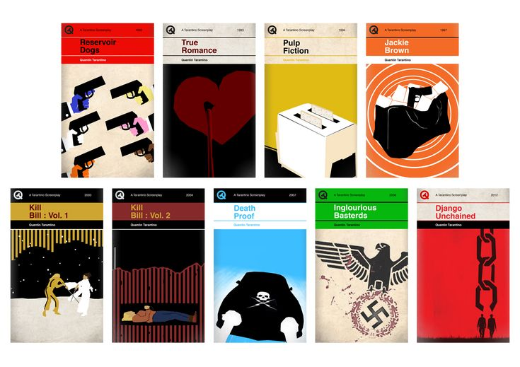 Quentin Tarantino Films Re-Imagined As 'Penguin'-Style Book Covers - DesignTAXI.com