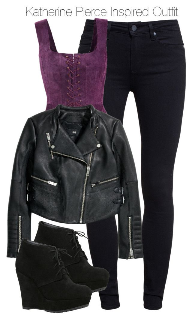 """""""The Vampire Diaries - Katherine Pierce Inspired Outfit"""" by staystronng ❤ liked on Polyvore"""