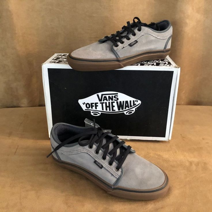 Size 9 VANS Chukka Low Men Grey Gum new in box Chris Pfanner suede tennis shoes #VANS #Skateboarding