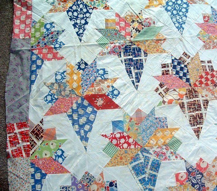 Antique 1940's Nosegay Pattern Cotton Feedsack Fabric ...