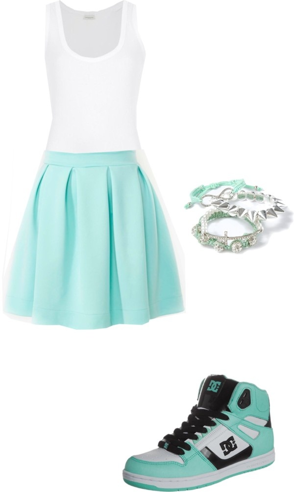 """The skater girl look"" by ms-mckinney ❤ liked on Polyvore"