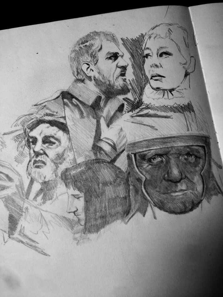 As its 400 years of Shakespeare, I'm adding a tribute piece, dedicated to the great Bard into my collection... As it will contain a montage of sorts celebrating its myriad of characters, I've dropped a quick scratchy sketch of Paul Schofield, Derek Jacobi, Lawrence Olivier, Anthony Hopkins and Judy Dench...  Don't know if they'll actually find their way into my piece, but you want to get a feel for the characters & looking at iconic images taken in the past, can help you polish your own…