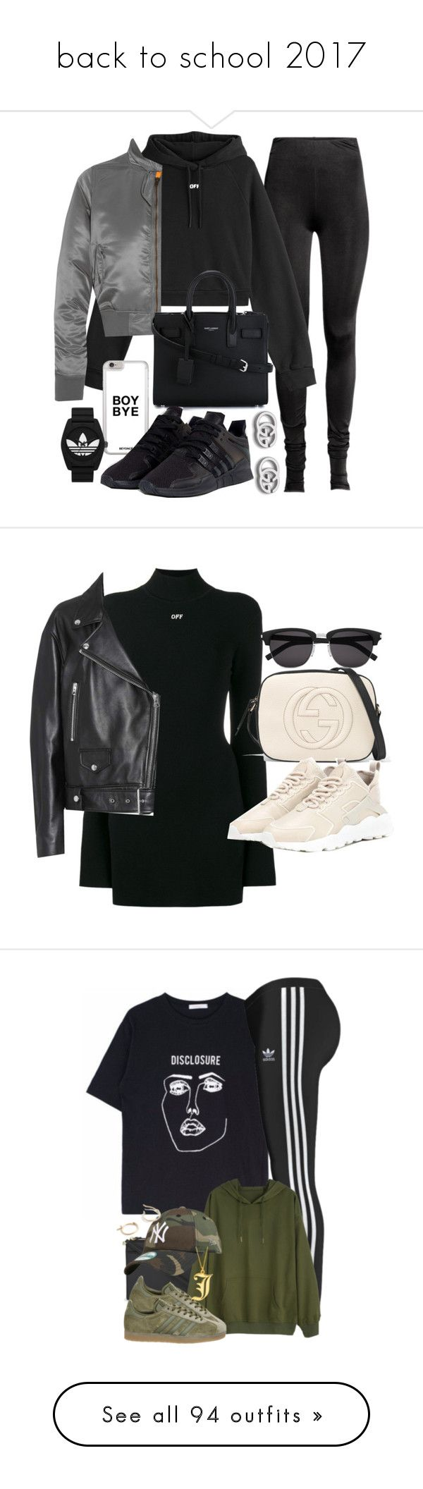 """""""back to school 2017"""" by dreaml-like-you-mean-it ❤ liked on Polyvore featuring Off-White, Balenciaga, Yves Saint Laurent, adidas, adidas Originals, Gucci, NIKE, Acne Studios, Kate Spade and Topshop"""