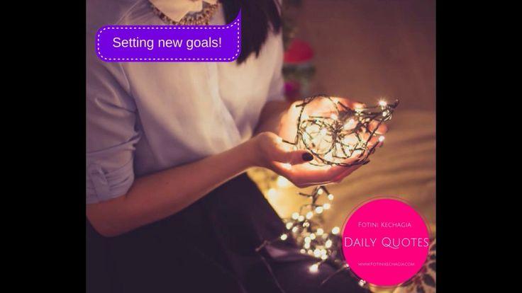 Θέτοντας Νέους Στόχους! Setting New Goals!