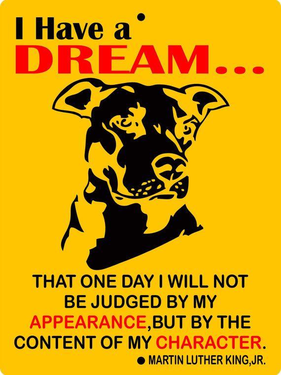 Pitbull Dog Sign 9x12 ALUMINUM ihad1 by animalzrule on Etsy, $13.00