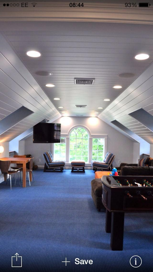 Attic Remodel With Chimney