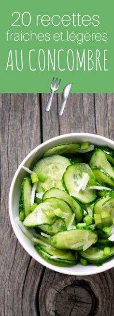 20 recettes healthy au concombre !