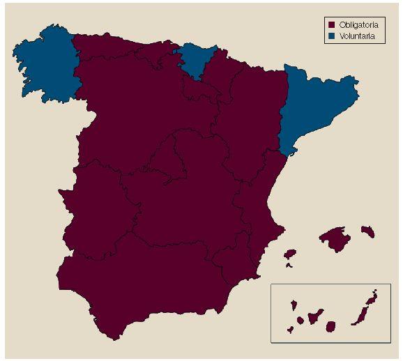 ¿En qué comunidades autónomas españolas es obligatoria la vacunación contra la rabia en perros?