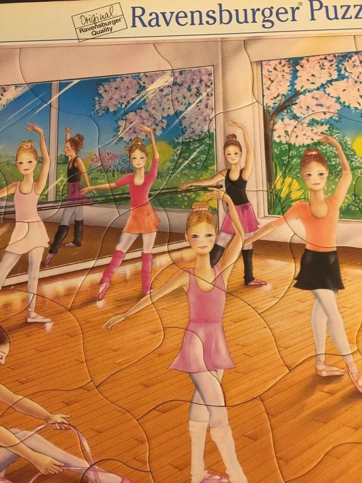 Ravensburger Puzzle Ballet Class Kids Children 2004 43 Pieces Original Jigsaw  #Ravensburger