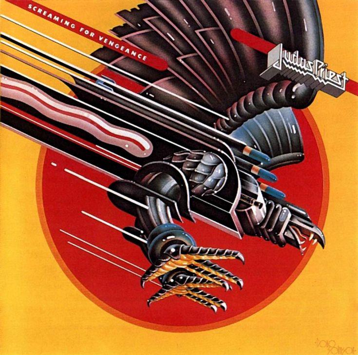 Band: Judas Priest  Record: Screaming for Vengeance  Artist: Doug Johnson