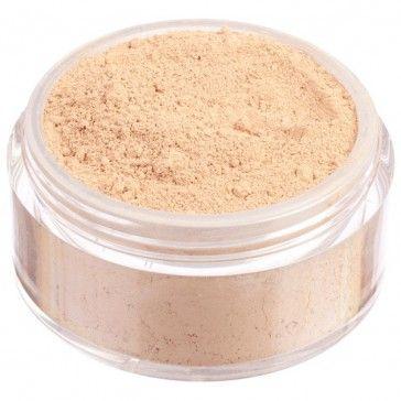 Fondotinta in polvere libera 100% minerale, nuova formulazione High Coverage ad alta coprenza. Tonalità chiara dal sottotono caldo.