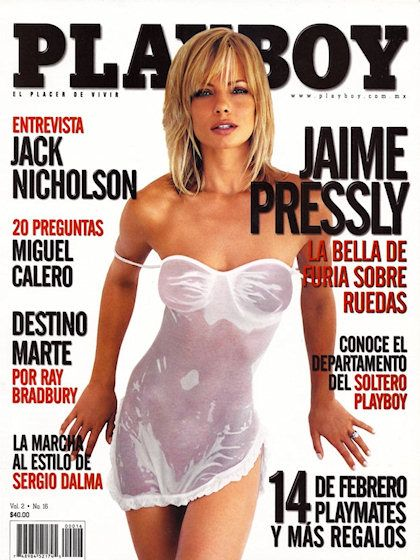 Playboy Mexico February 2004 With Jaime Pressly On The