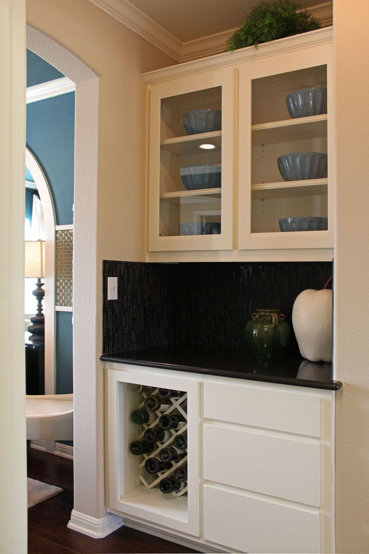 Cabinet door kitchen by burrows cabinets modern kitchen austin - Kitchen Butler S Pantry With Lattice Wine Rack By Burrows Cabinets Burrowscabinets Com