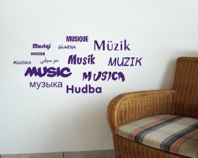 Wandtattoo Musik in 13 Sprachen Creativ-Set. Wandtattoo 'Musik' ab Größe 50 cm  Walltattoo, Wallsticker