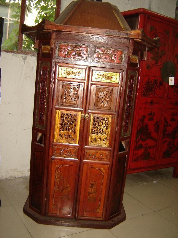 Antica portantina appartenuta ad una famiglia nobiliare, Cina, Fujian, metà '800.  € 4800,00