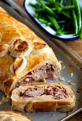 Pork Wellington - Colin McGurran. The chef recommends serving with potato dauphinoise and green beans to make a fantastic, hearty dinner.