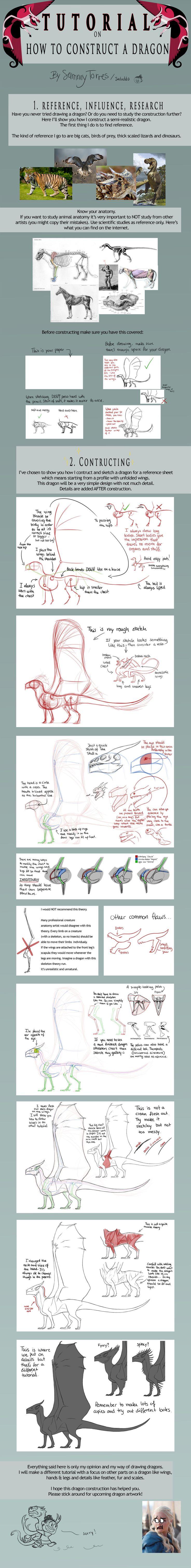 TUTORIAL: How to Construct a Dragon by SammyTorres.deviantart.com on @DeviantArt