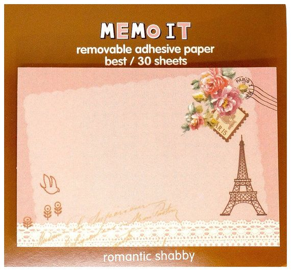 Kawaii travel PARIS memo it Japan sticky notes by MyChildhoodDream
