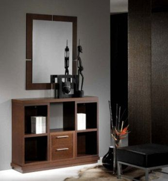 meuble d 39 entr e contemporain avec miroir degas coloris noyer meubles d 39 entr e pinterest. Black Bedroom Furniture Sets. Home Design Ideas