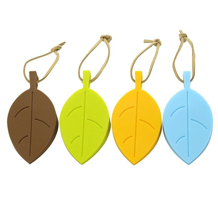Silicone Door Stopper , 4 Pack Premium Cute Colorful Cartoon Leaf Style Flexible Silicone Window/ Door Stops for Bathroom #Affiliate