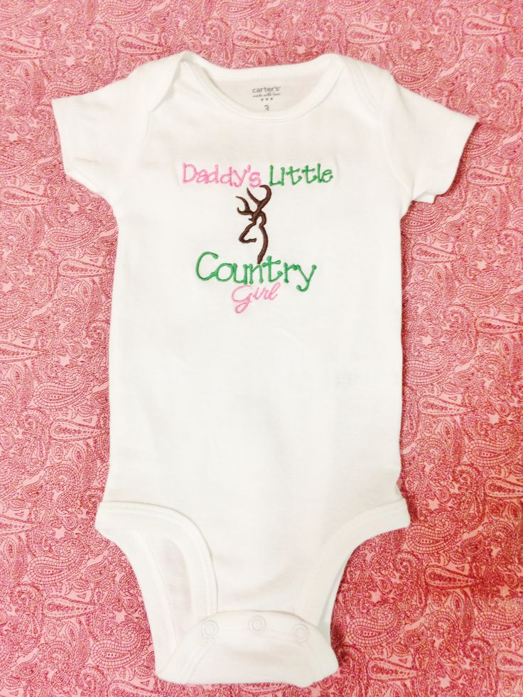 Daddy's Little Country Girl - Deer Hunting Baby Onesie or Shirt