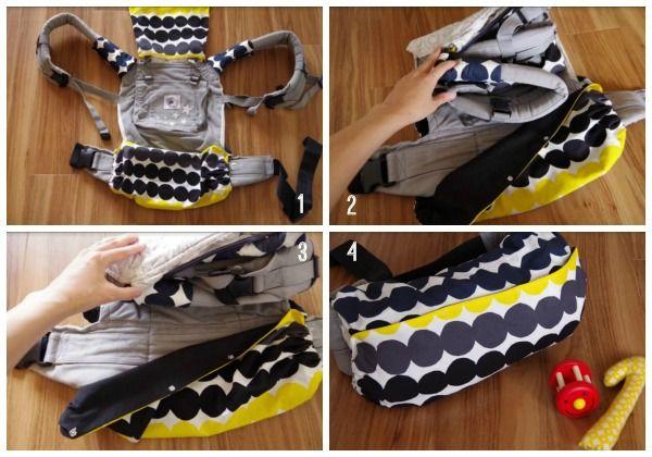 直線縫いが出来れば大丈夫!意外と簡単に作れるエルゴ収納カバーの作り方   mamas job