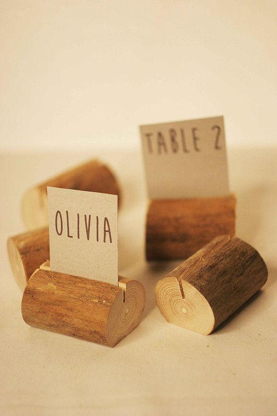 10 pieces rustic place card holders Wedding by SnakeInChest, $19.99