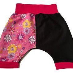 Pantalon sarouel évolutif - modèle pour filles 3-6 mois - pièce unique !
