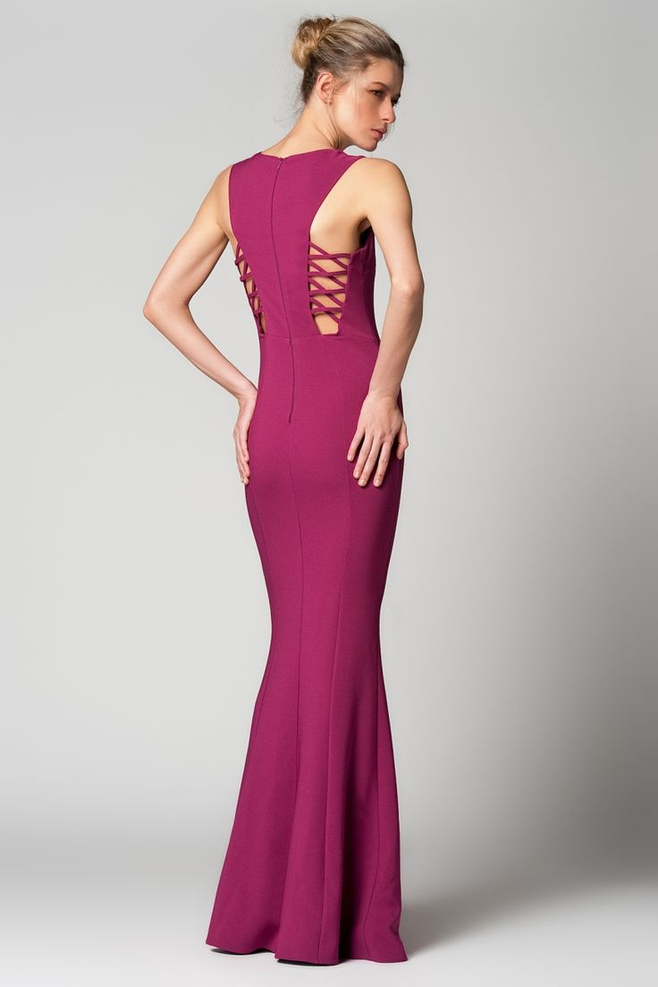 61.90 TL (KDV dahil) Milla by trendyol Mürdüm Uzun Elbise ::