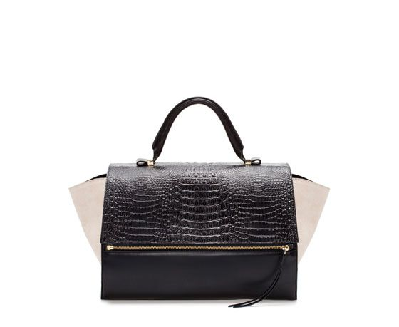 Zara - Leather Citybag With Zip  {in Multicolour}