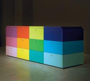 I like this idea for file cabinets to give your home office some fun. Paesaggi Italiani Dresser | Dwell