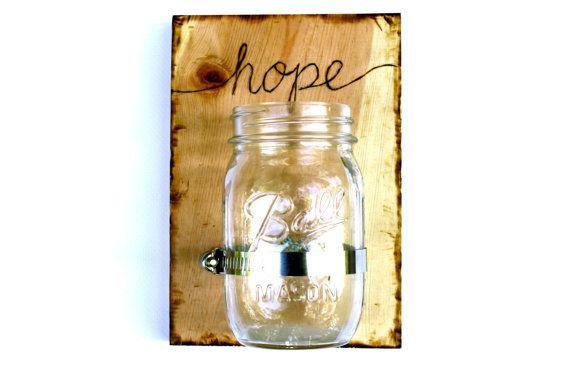 1 Custom Mason Jar Wall Vase/Sconce  Choose your by SoftIndustry